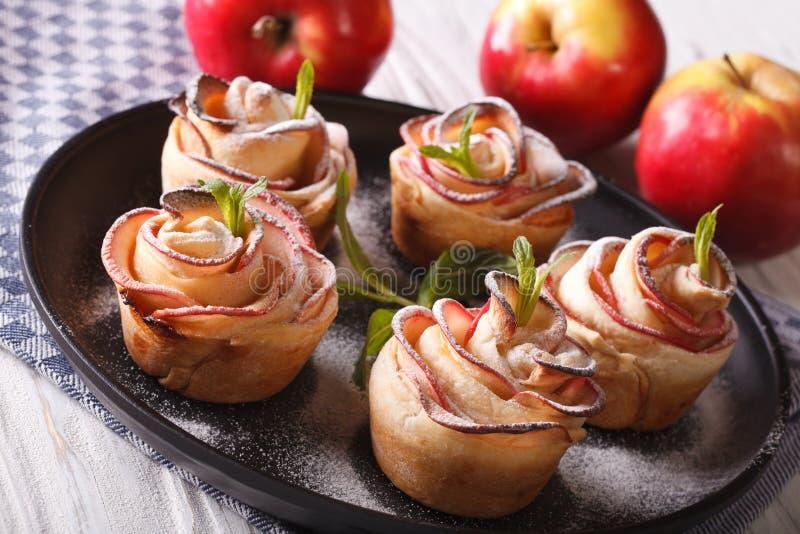 Torty wzrastali z jabłczanego zakończenia na talerzu fotografia royalty free