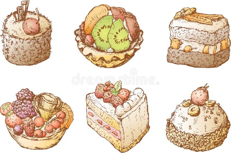 Torty z owoc ilustracja wektor