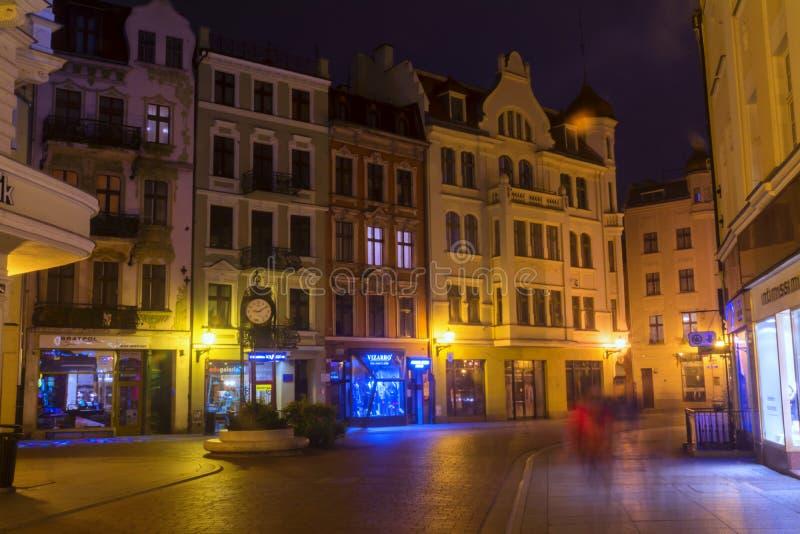 2017 10 20 Toruński Polska, Stary Targowy kwadrat w Toruńskim Toruńscy są starzy miasta w Polska, miejsce narodzin astronom Nicol obrazy royalty free