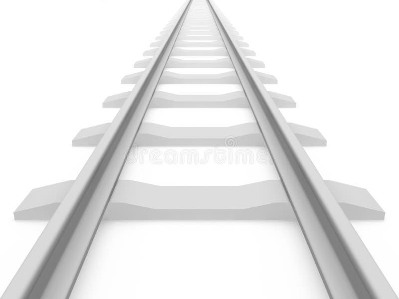 toru szynowy pociąg royalty ilustracja