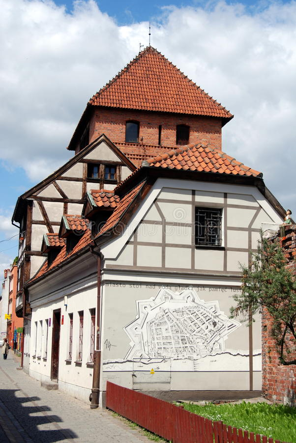 Torum, Polonia: Camere della parete della città fotografia stock libera da diritti