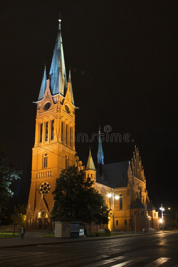 Download Torun church stock image. Image of night, orthodox, ghostly - 3741923