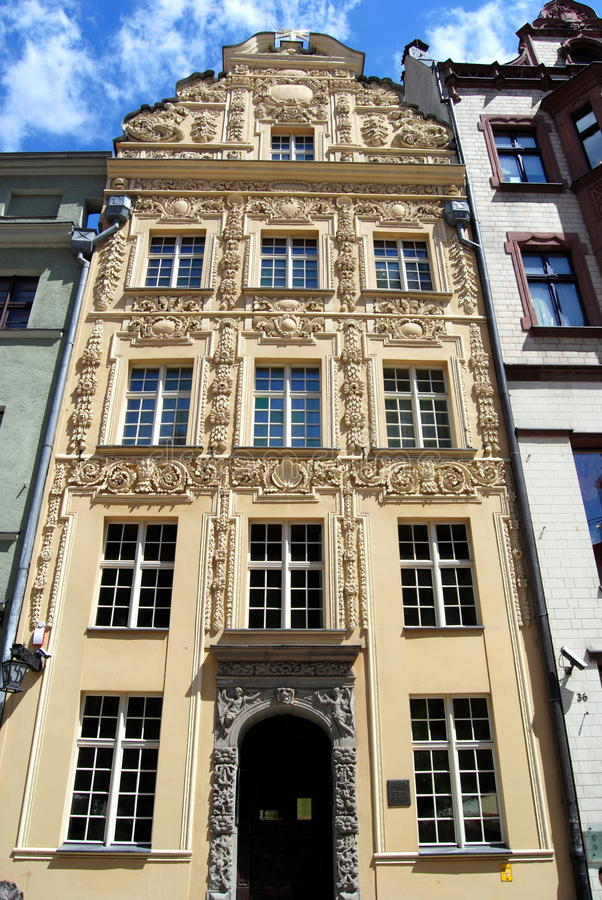 Torun, Poland: House Under The Gold Star Editorial Photography