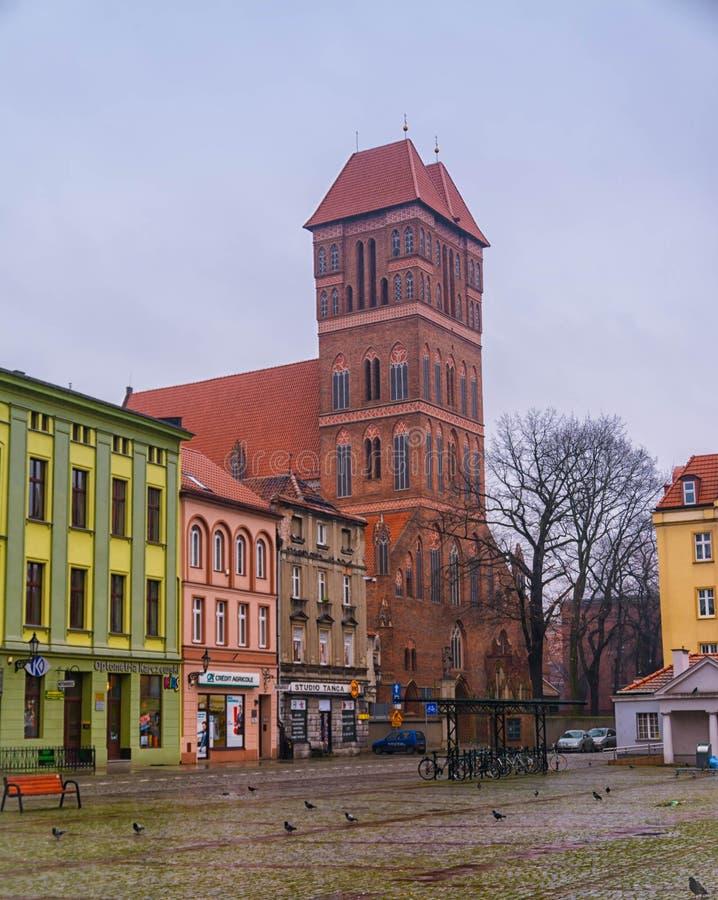 2017 10 20 Torun Poland, Oud Marktvierkant in Torun Torun is de oudste steden in Polen, geboorteplaats van de astronoom Nicolaus stock afbeelding