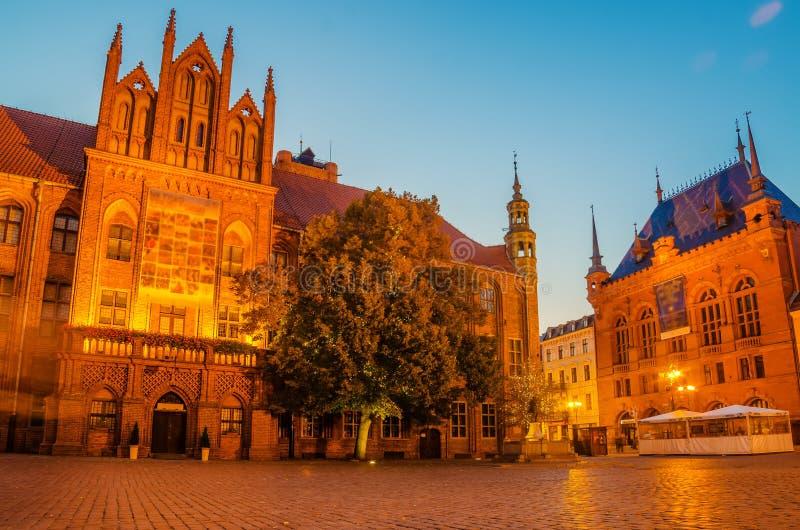 Gotisches Rathaus Die Alte Stadt In Torun, Polen