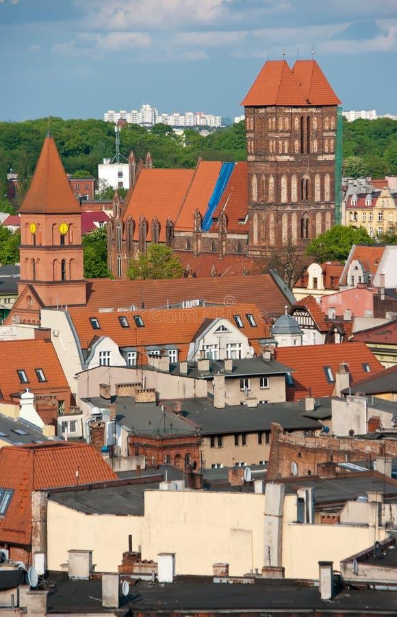 Torun, Polen - daken royalty-vrije stock foto
