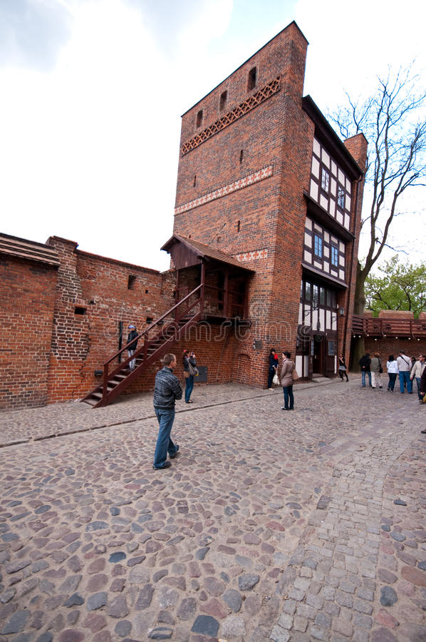 Torun, Polen - de Leunende Toren royalty-vrije stock afbeeldingen