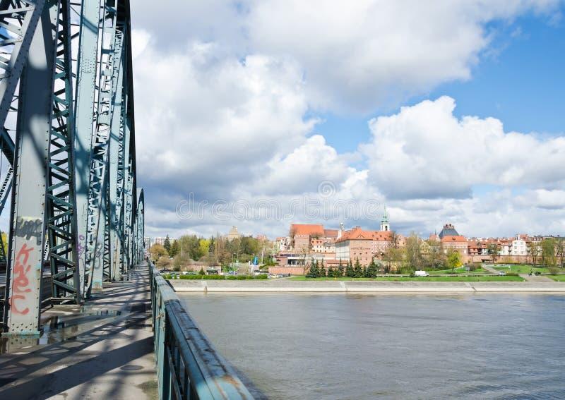 Torun von JÃ-³ zef PiÅ-'sudski Brücke lizenzfreie stockfotografie