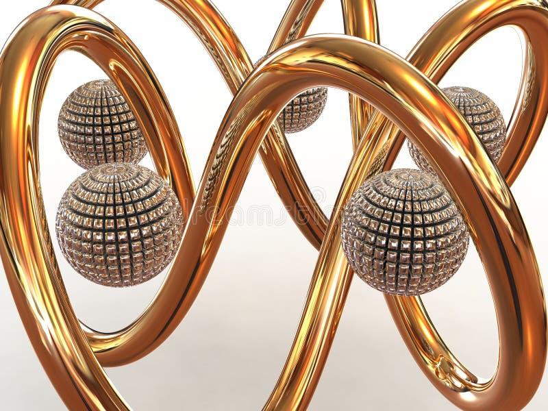 Download Torus knot. stock illustration. Illustration of single - 15666446