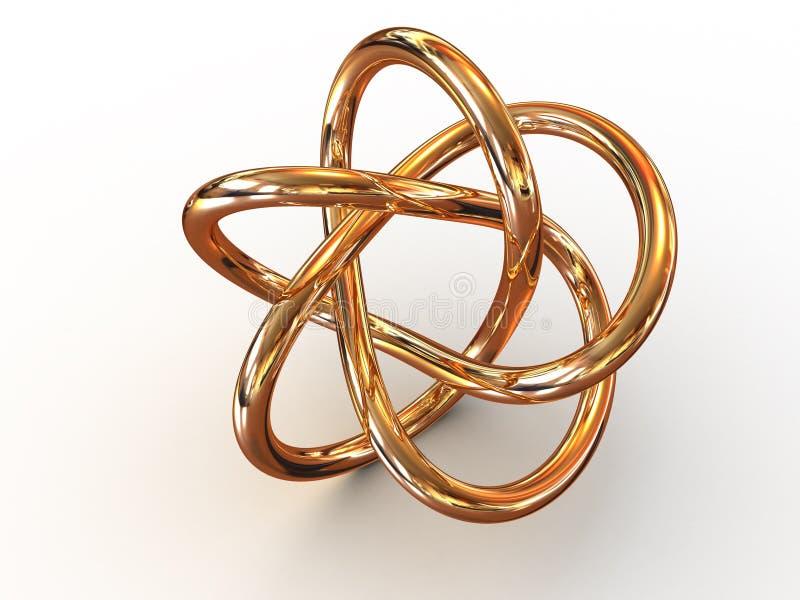 Torus knot. Beautiful graphic image. torus knot. 3d royalty free stock images
