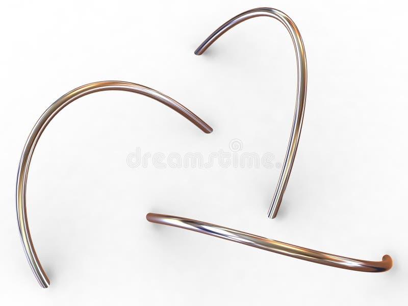 Torus knot. Three-dimensional graphic image. torus knot. 3d stock photography