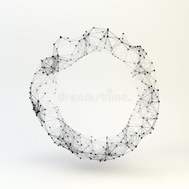 torus molekylärt galler Anslutningsstruktur vektor 3d stock illustrationer