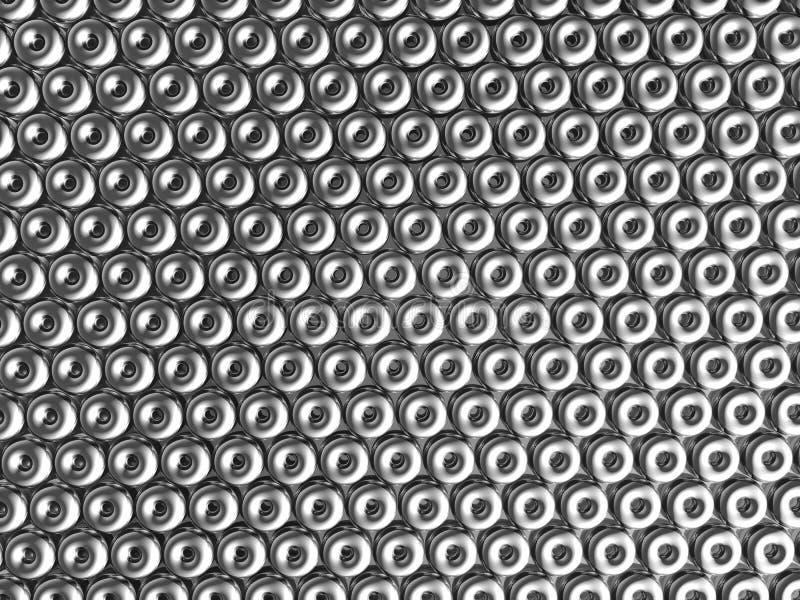 Torus pattern shiny metal effect background royalty free stock image