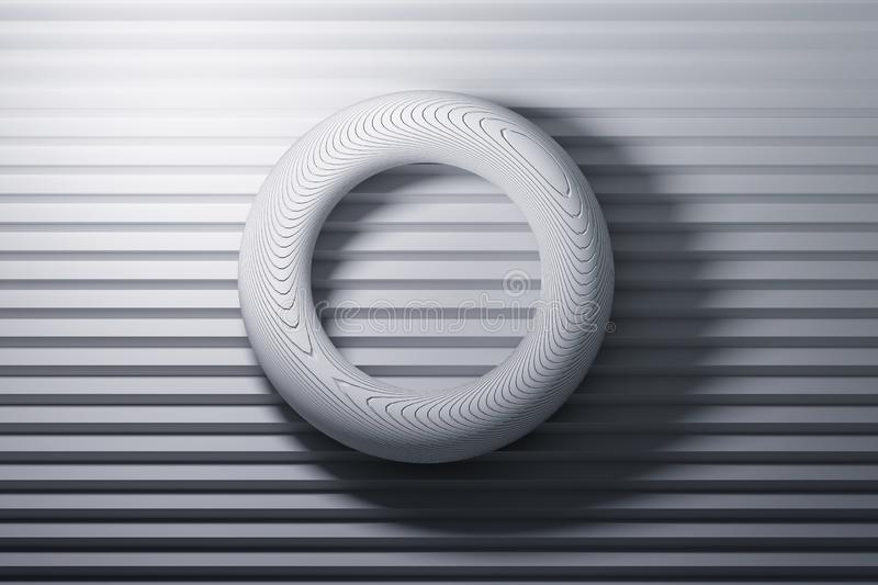 Torus primitive shapes laying on stairs vector illustration