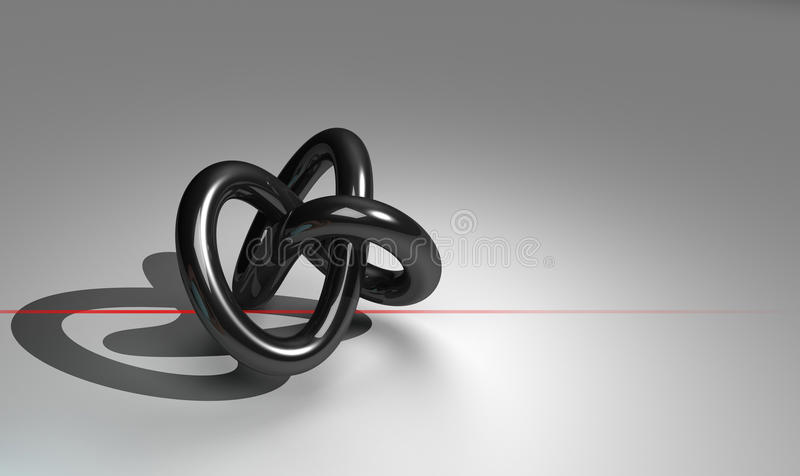 Torus With Red Line Stock Photo