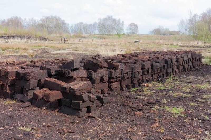 Torv som gräver i holländsk lantlig liggande arkivfoto
