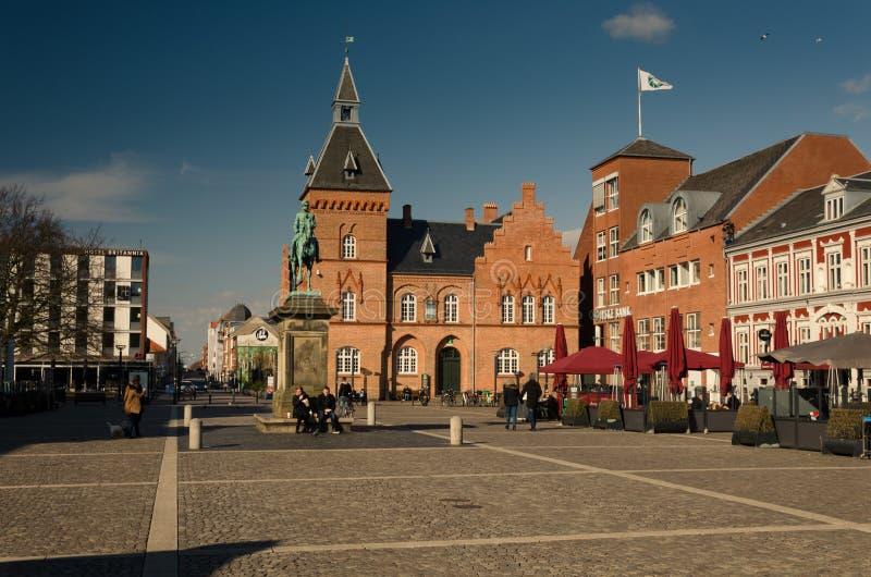 Torvetvierkant, Esbjerg, Denemarken stock afbeeldingen