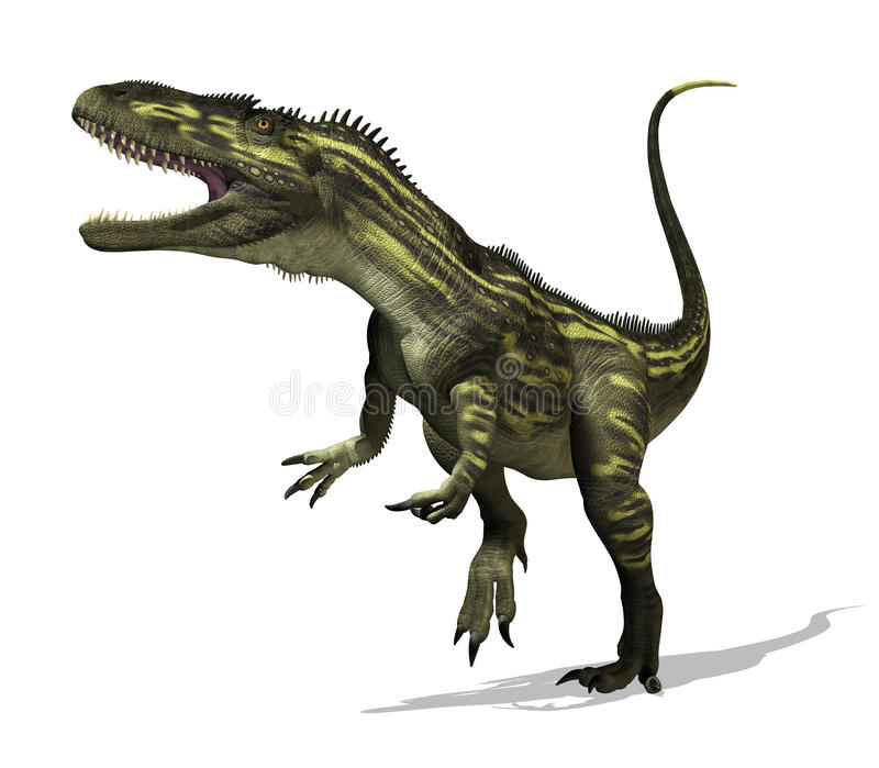 Torvosaurus Dinosaur. The torvosaurus dinosaur lived during the Late Jurassic Period - 3D render royalty free illustration