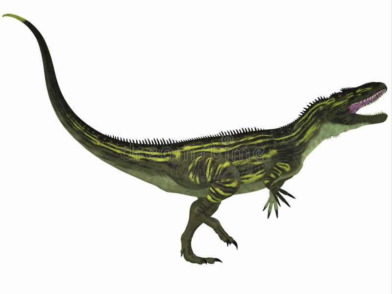 Torvosaurus op Wit royalty-vrije illustratie