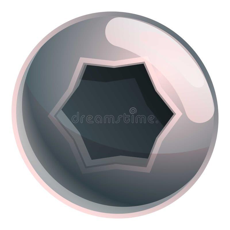 Torx internal screw head icon, cartoon style. Torx internal screw head icon. Cartoon of torx internal screw head vector icon for web design isolated on white vector illustration