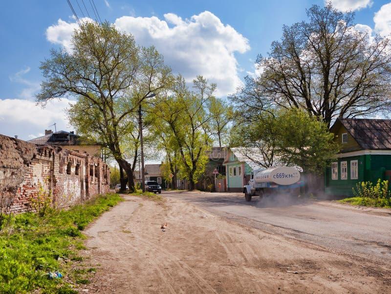 Torzhok街道的看法  特维尔 俄国 免版税图库摄影