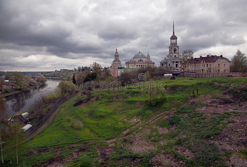 Torzhok en la primavera Paisaje ruso imágenes de archivo libres de regalías