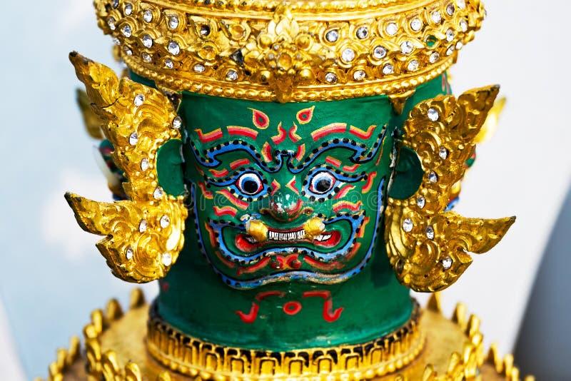 TOS-Sa-Kan Hua Khon Thai Traditional Mask fotografia stock libera da diritti