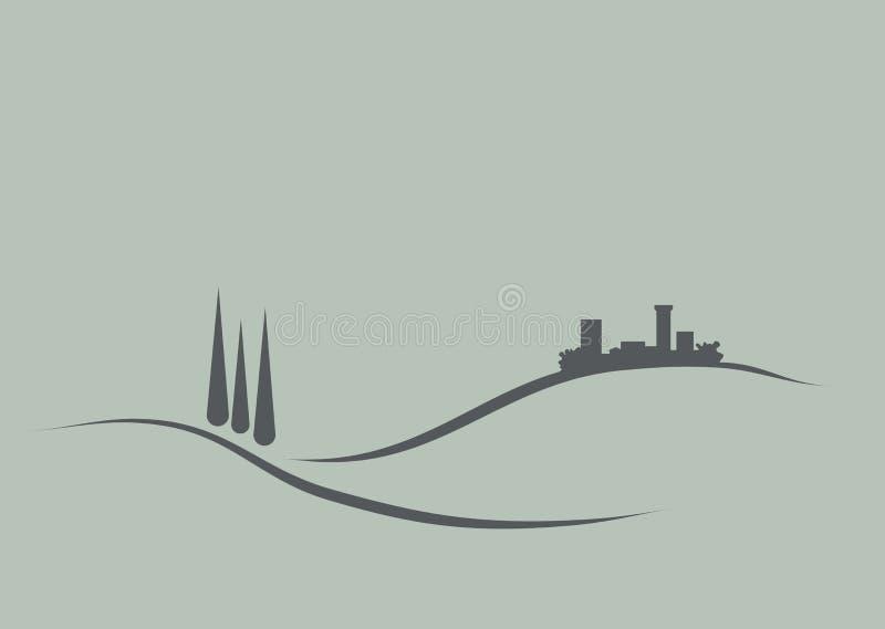 Toscânia ilustração stock