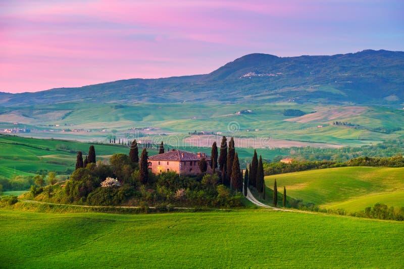 Toscânia, paisagem italiana foto de stock royalty free