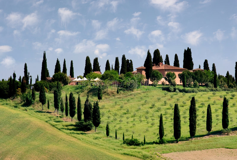 Toscânia paisagem-Italy fotografia de stock