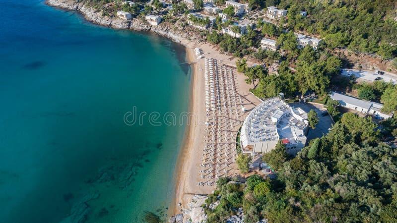 Tosca beach, Greece royalty free stock photo