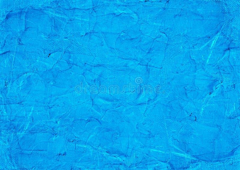 Tosca Water Neon Light Blue knackte Rusty Distorted Decay Old Abstract-Segeltuch-malende Beschaffenheits-Muster-Winter-Hintergrun stockbild