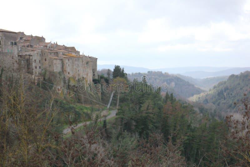 Toscaans landschap stock illustratie