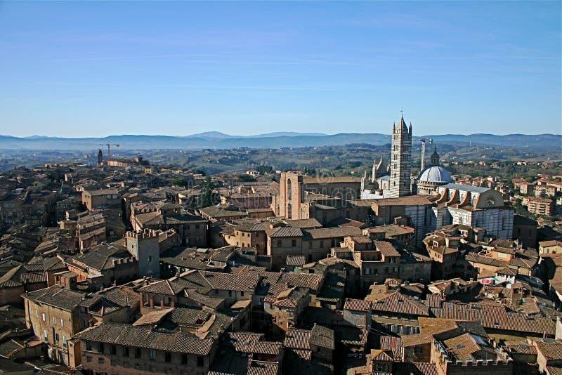 Toscaans Landschap in Siena stock afbeeldingen
