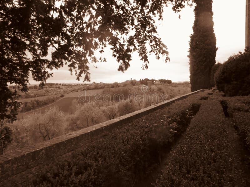 Toscaans platteland stock afbeelding