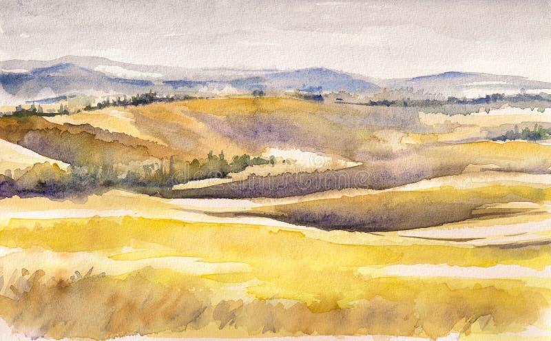 Toscana ilustración del vector