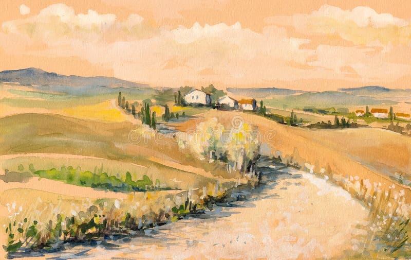 Toscana stock de ilustración