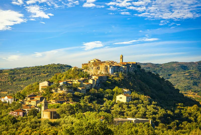 Toscane, village de Montegiovi Monte Amiata, Grosseto, Italie photographie stock libre de droits