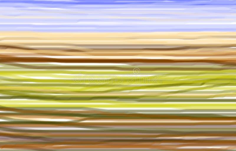 Toscanië in kleuren stock illustratie
