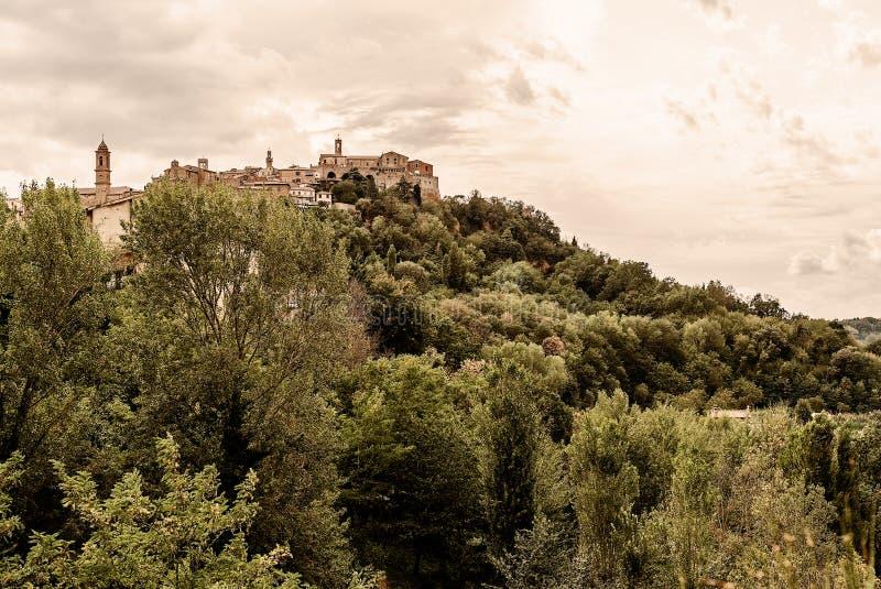 Toscanië - Montepulciano stock foto's