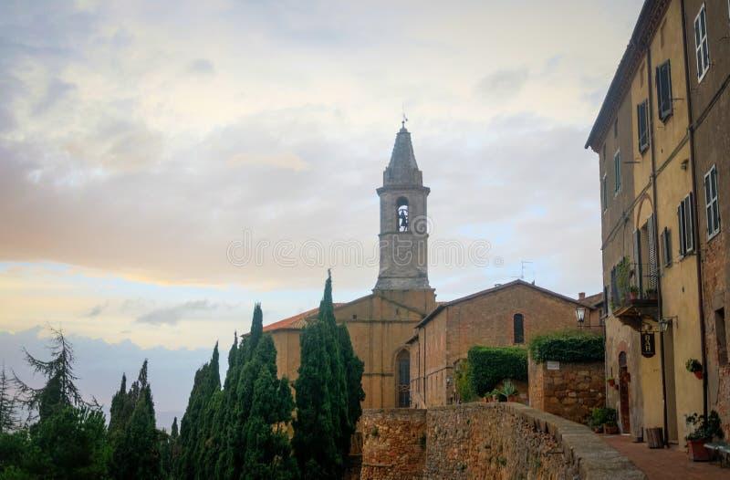 Toscanië - Pienza royalty-vrije stock foto's