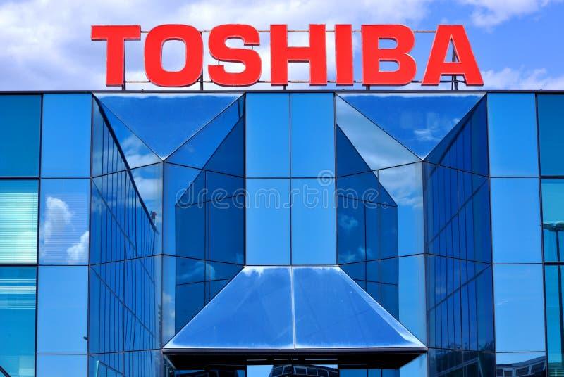 Toshiba logo royaltyfri bild