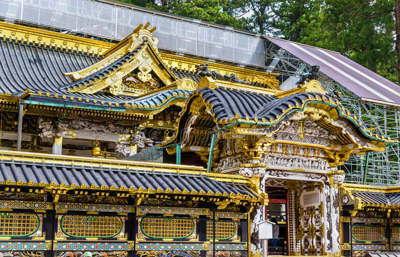 Tosho-gu, a Shinto shrine in Nikko royalty free stock images