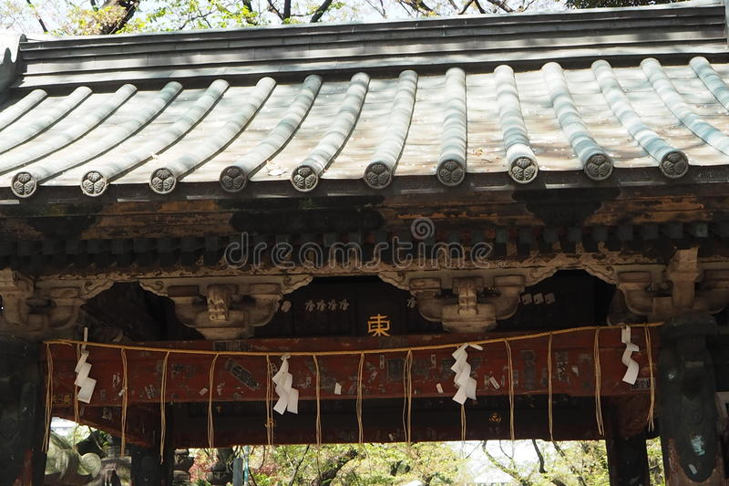 Toshogu Shinto shrine at Ueno park royalty free stock image