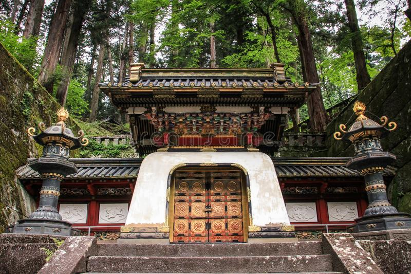 Toshogu Shrine, Nikko, Tochigi Prefecture, Japan. Toshogu shrine is the final stop of the Tokugawa family which was built by the Tokugawa Shogunate 250 years ago royalty free stock image
