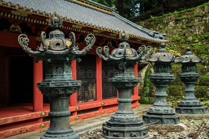 Toshogu Shrine, Nikko, Tochigi Prefecture, Japan. Toshogu shrine is the final stop of the Tokugawa family which was built by the Tokugawa Shogunate 250 years ago royalty free stock images