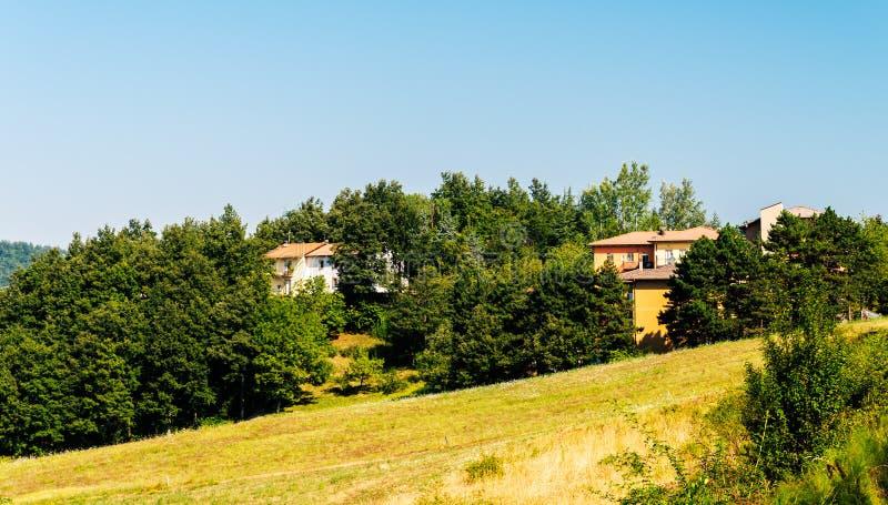 Toskana, Bauernhaus in der Landschaftslandschaft stockbilder