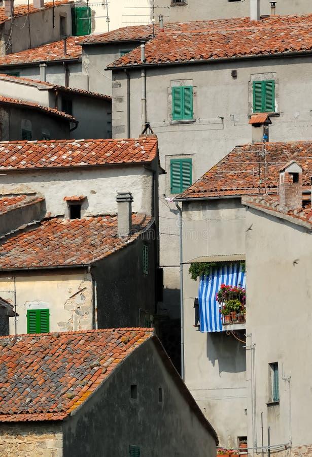 Toskana-Fassaden no.1 stockfoto