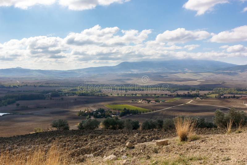 Toskana - Felder von Träumen stockfoto
