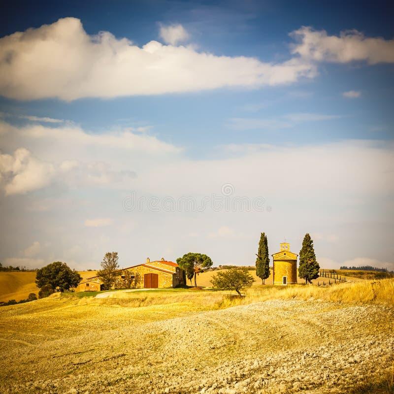 Toskana-Landschaft lizenzfreie stockfotos